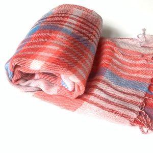 American Eagle plaid blanket scarf